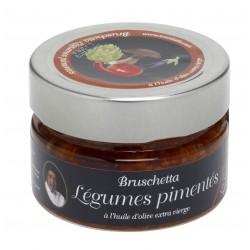 bruschetta legumes pimentes